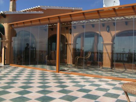 Glass Curtains and Roof installation in Calpe (Alicante North)