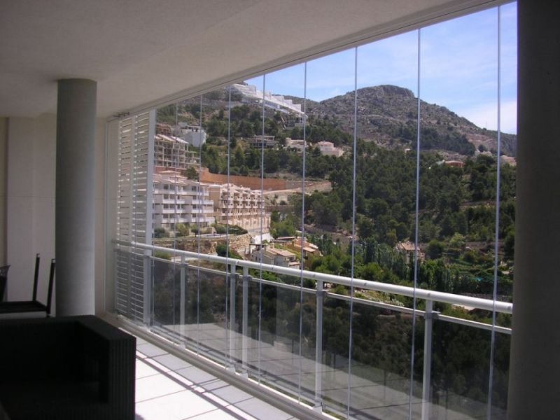 Glass Curtains installation in Altea Hills. (Full Height for Panoramic ...