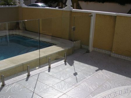 Pool Fencing installation in Cabo Roig.